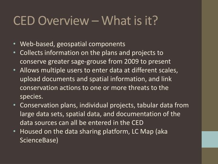 CED Overview – What is it?