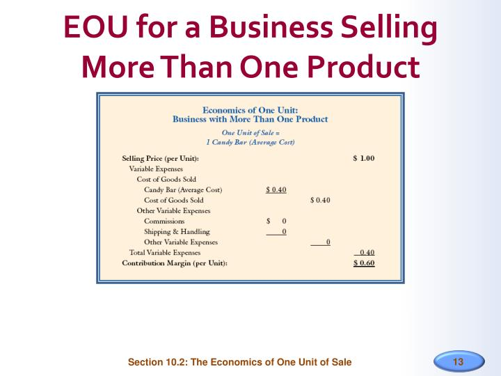 EOU for a Business Selling More Than One Product