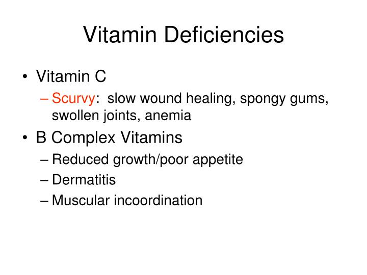 Vitamin Deficiencies
