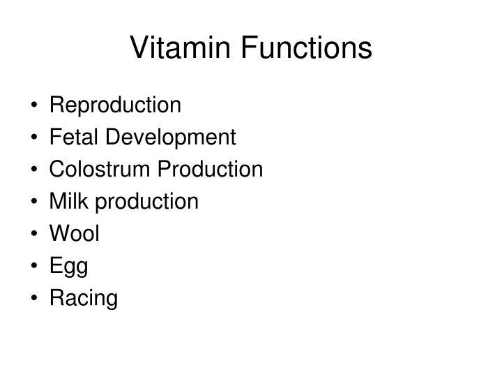 Vitamin Functions