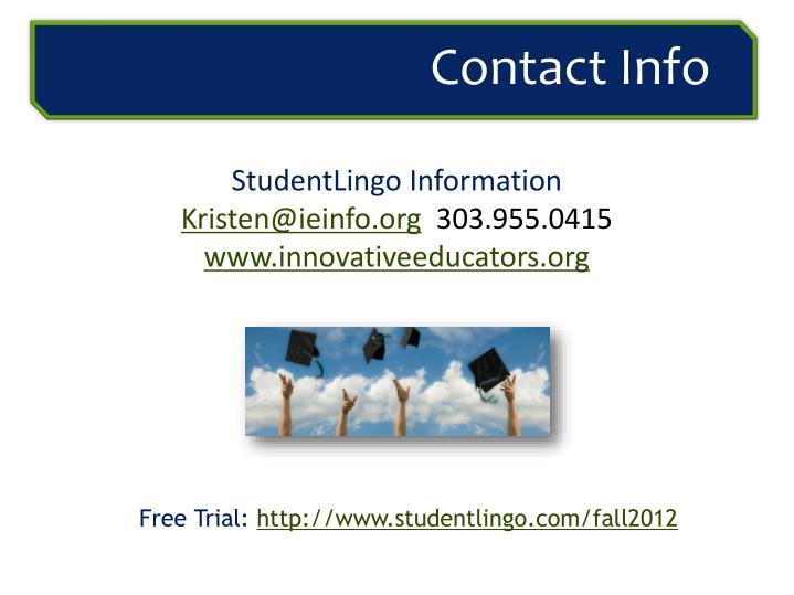 StudentLingo Information