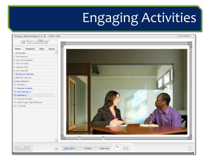 Engaging Activities