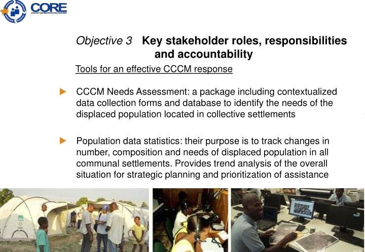 CCCM Needs Assessment: a package including contextualized data collection forms and database to identify the needs of the displaced population located in collective settlements