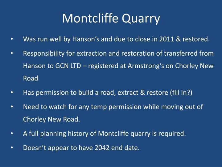Montcliffe Quarry