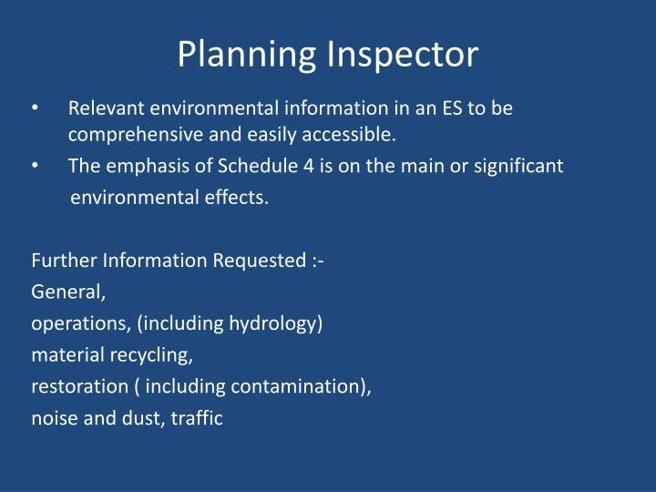 Planning Inspector