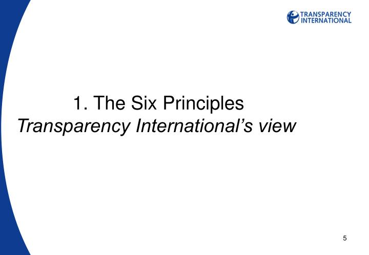 1. The Six Principles
