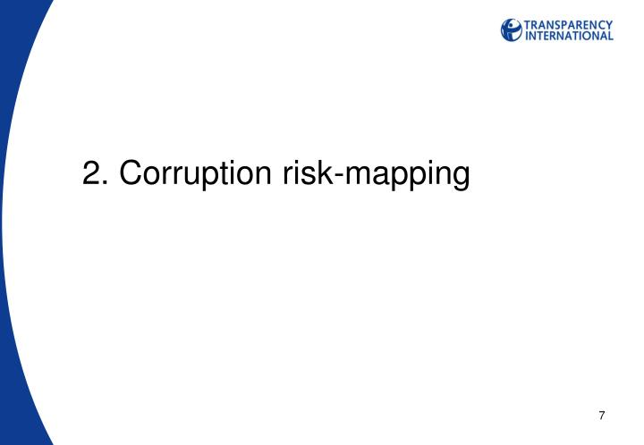 2. Corruption risk-mapping