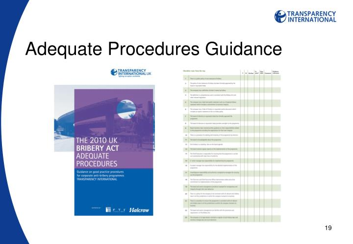 Adequate Procedures Guidance