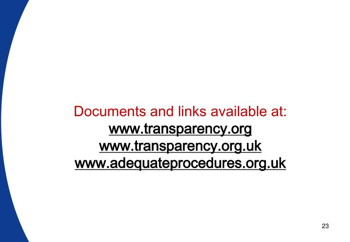 Documents and links available at: