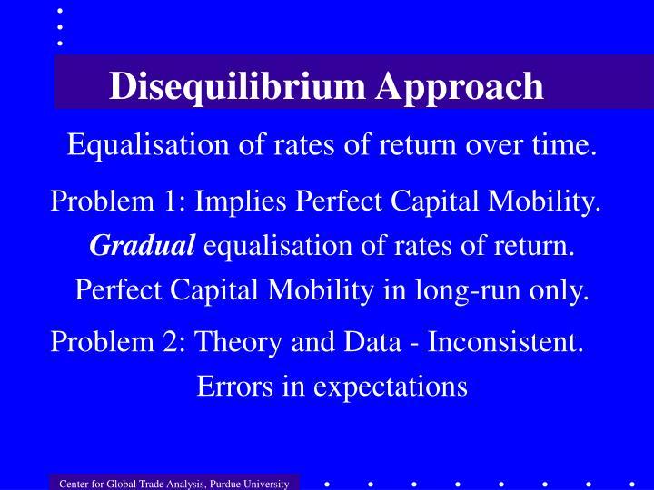 Disequilibrium Approach