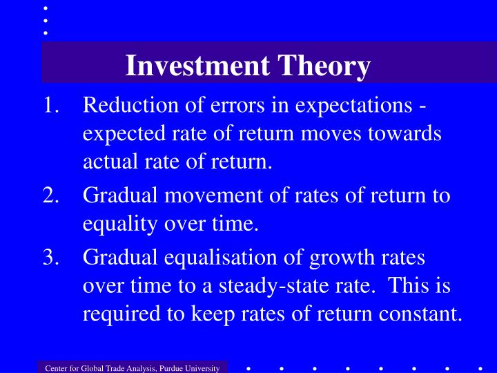 Investment Theory