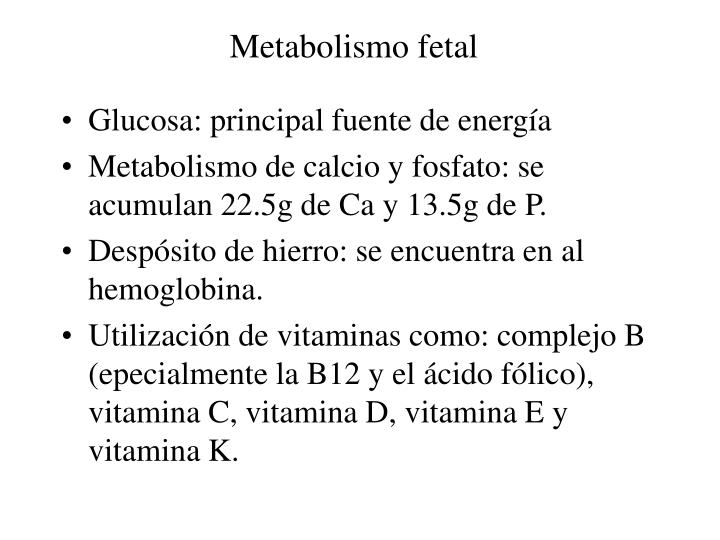 Metabolismo fetal