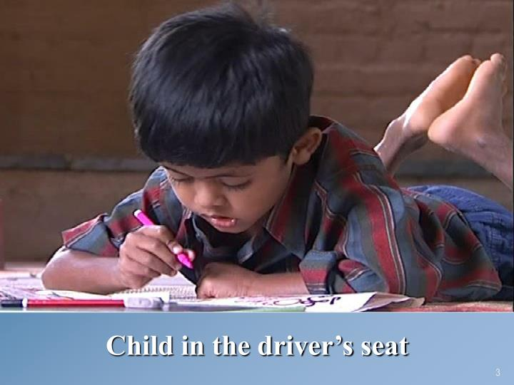 Child in the driver's seat