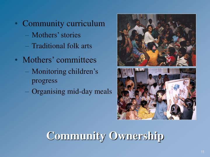 Community curriculum