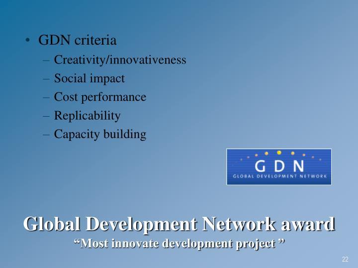 GDN criteria
