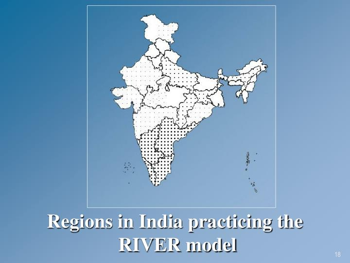 Regions in India practicing the