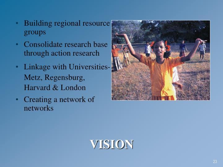 Building regional resource groups