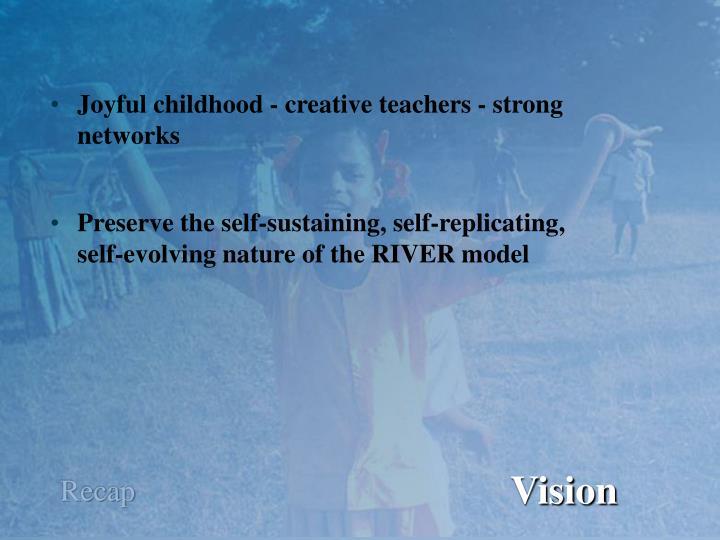 Joyful childhood - creative teachers - strong
