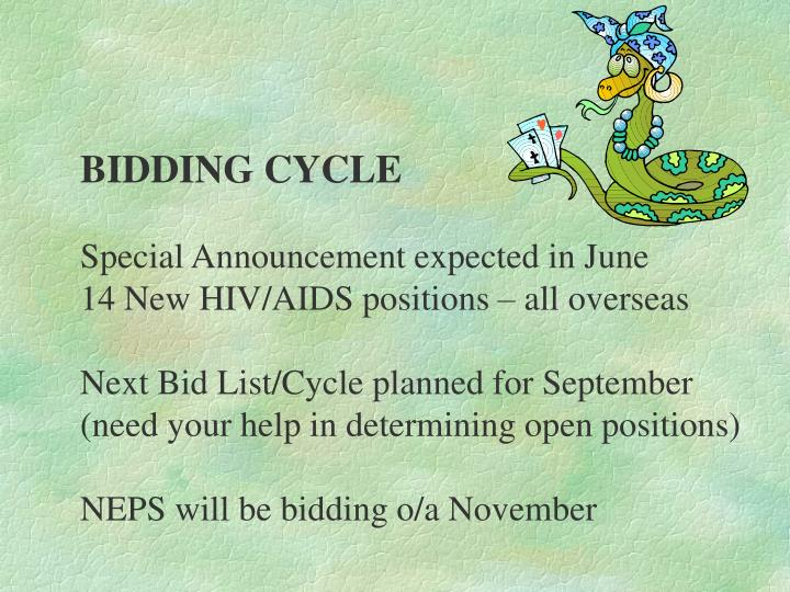 BIDDING CYCLE