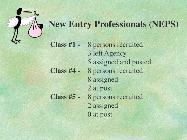 New Entry Professionals