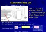 calorimeters read out
