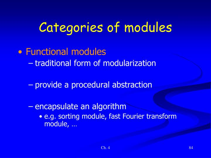 Categories of modules
