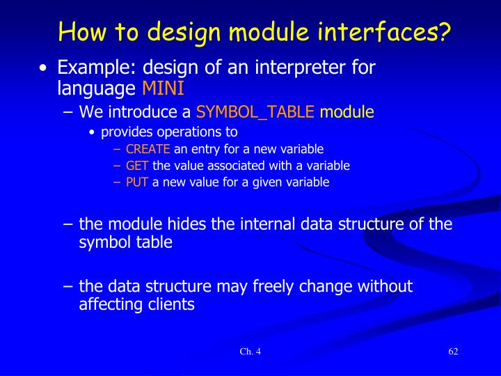 How to design module interfaces?