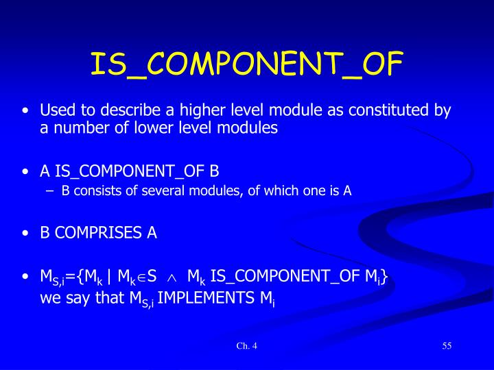 IS_COMPONENT_OF