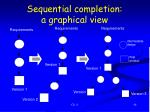 sequential completion a graphical view