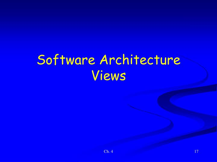 Software Architecture Views
