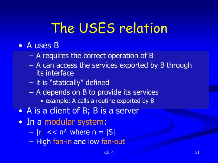 The USES relation