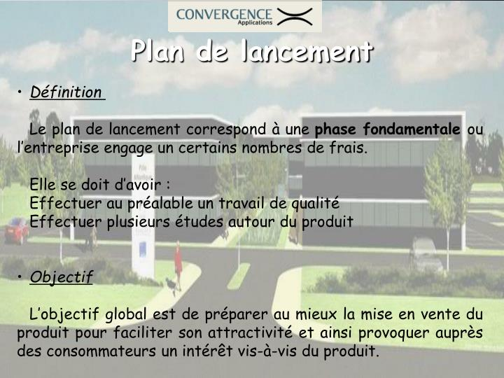Plan de lancement