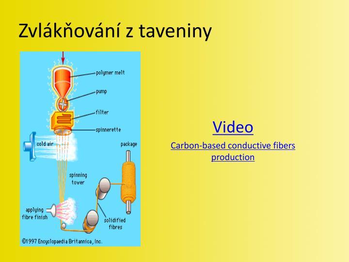 Zvlákňování z taveniny