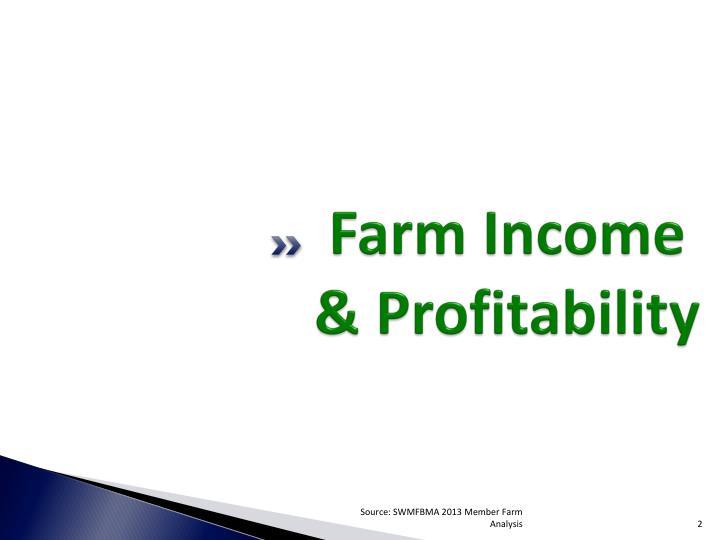 Farm Income & Profitability