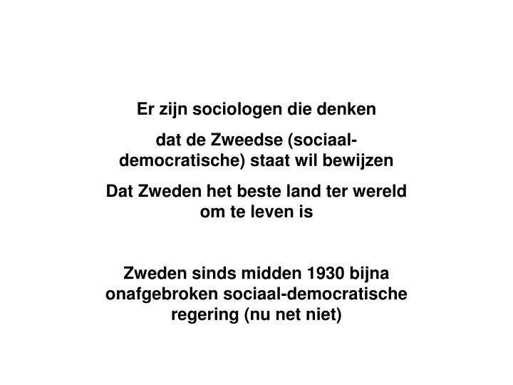 Er zijn sociologen die denken