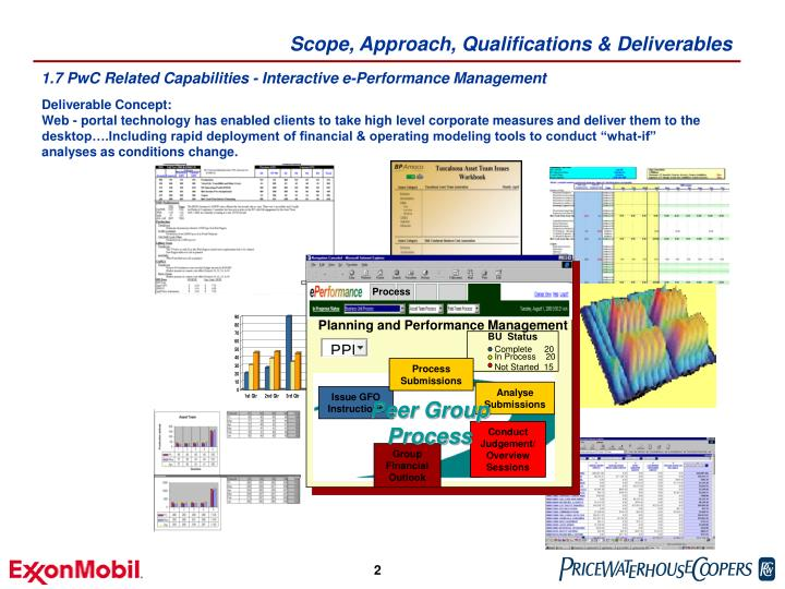 Scope approach qualifications deliverables1