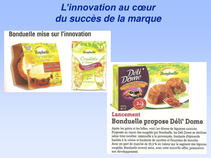 L'innovation au cœur