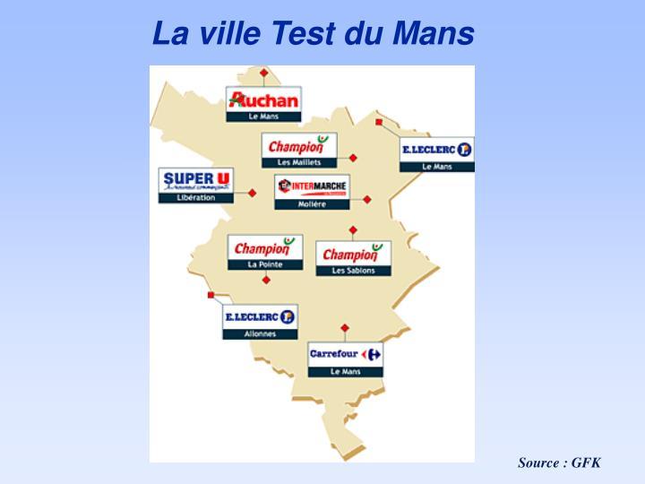 La ville Test du Mans