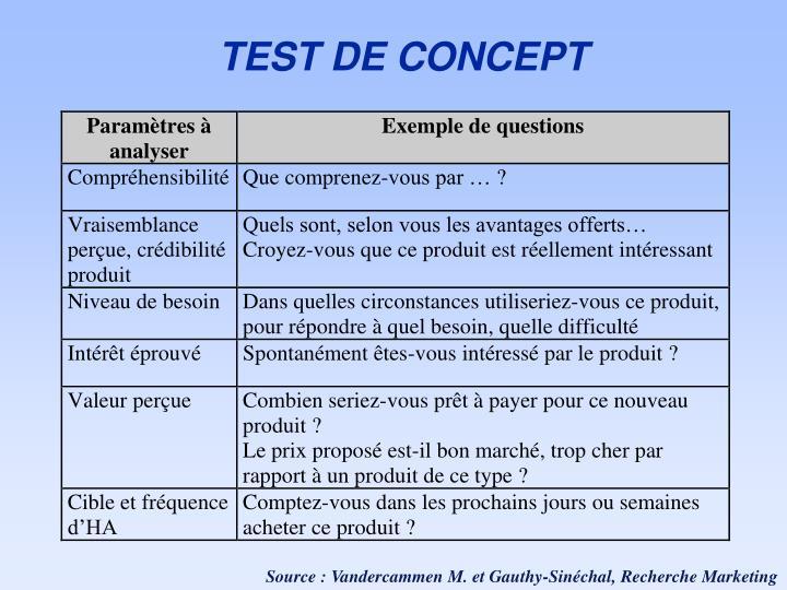 TEST DE CONCEPT