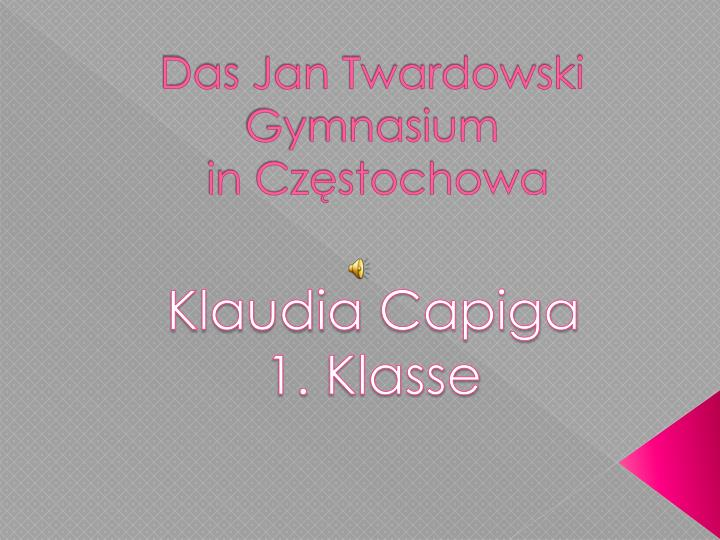 Das jan twardowski gymnasium in cz stochowa