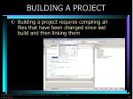 building a project