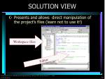 solution view