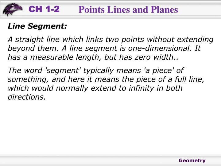 Line Segment: