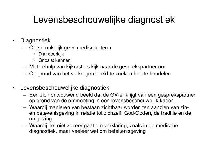 Levensbeschouwelijke diagnostiek