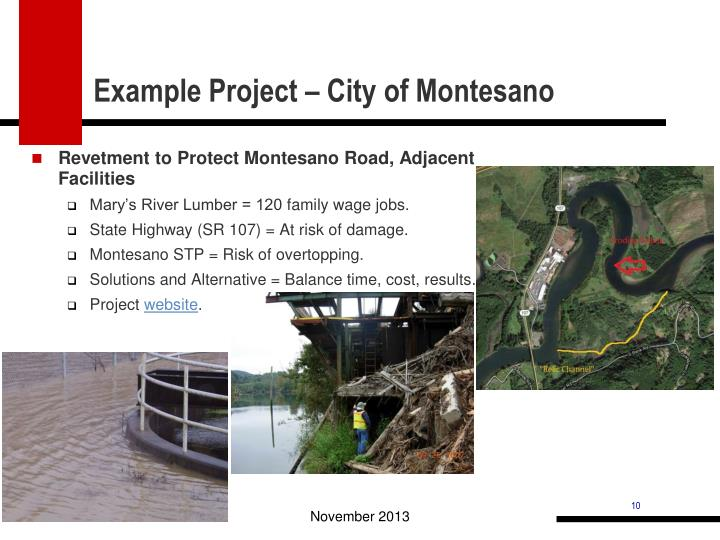 Example Project – City of Montesano