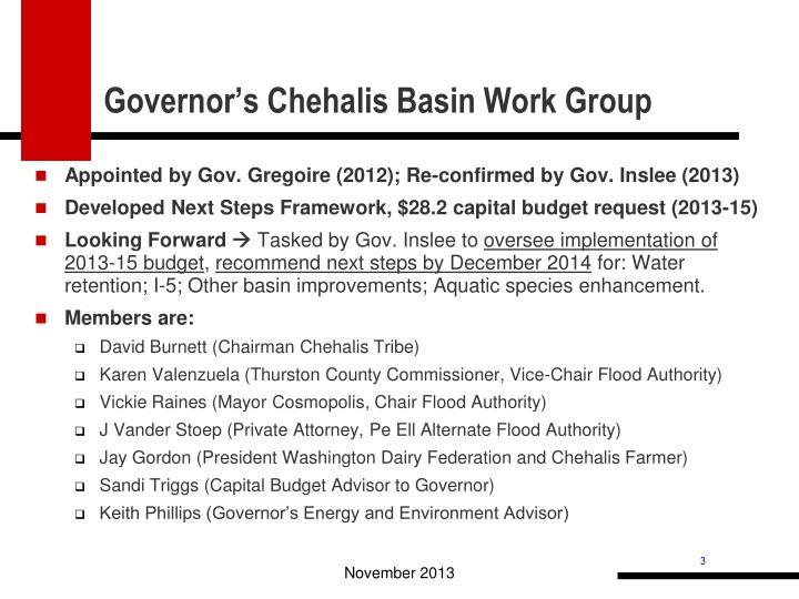 Governor's Chehalis Basin Work Group
