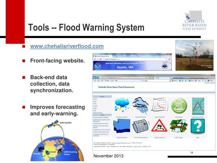 Tools -- Flood Warning System