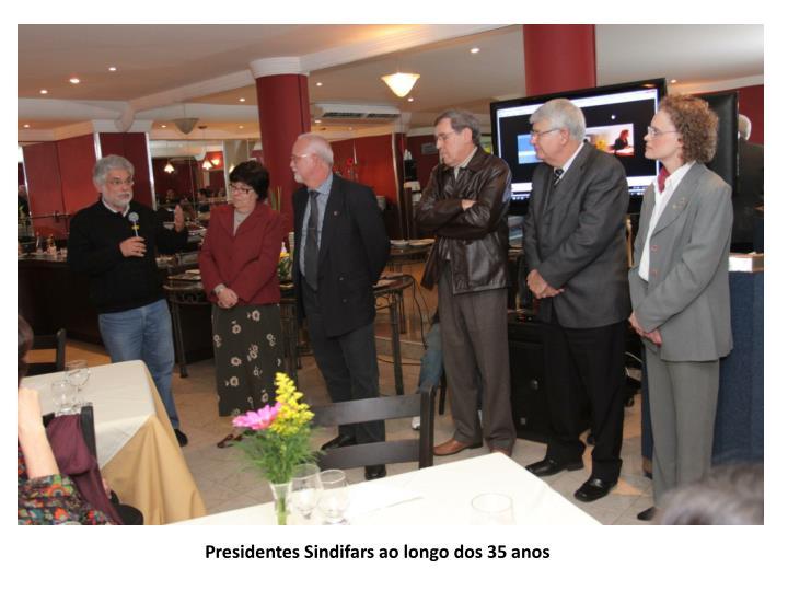 Presidentes Sindifars ao longo dos 35 anos