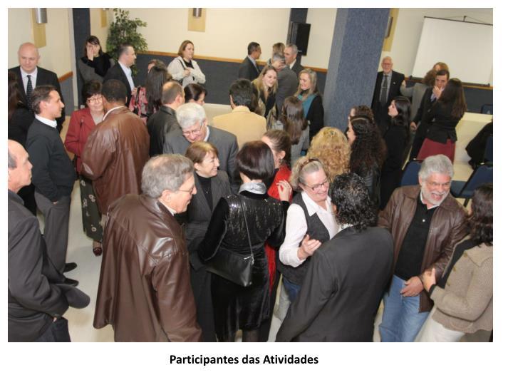 Participantes das Atividades