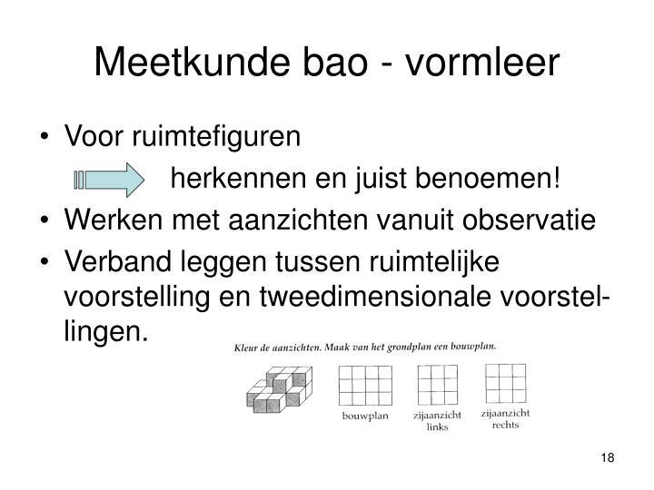 Meetkunde bao - vormleer